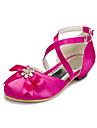 Fete Pantofi Satin Primăvară / Vară / Toamnă Confortabili Piatră Semiprețioasă pentru Alb / Roz / Fucsia / Nuntă / Party & Seară