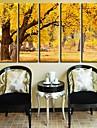 Stretchad Kanvastryck Kanvas set Landskap Fem paneler Vertikal Tryck väggdekor Hem-dekoration