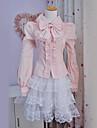 Bluză/Cămașă Lolita dulce lolita Cosplay Rochii Lolita 纯色 Nod Papion Manșon Lung lolita Bluză Pentru Poliester