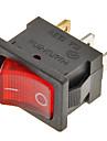 interrupteur a bascule 3 broches on / off (rouge ; noir, 6a, ac 250v / 10a, ac 125v)