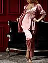 Femei Trei piese clasice pijamale cu frânghie