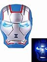 Cosplay Iron Man Masca cu Blue Light-Up Eyes - Albastru (3 x AG13)