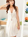 baiyibaishun ™ ofertă dantelă albă îmbrăcăminte de noapte transparent pentru femei