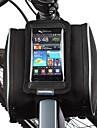 Sac de cadre de velo Sac de telephone portable 5.5 pouce Resistant a la poussiere Ecran tactile Cyclisme pour Iphone X Samsung Galaxy S4
