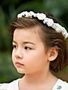 minunat hârtie / satin flori de nunta flori fată coroană de flori / caciula