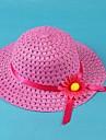 Copii aerisi de floarea-soarelui Ribbon Beach Elastic Band pălărie de paie