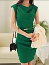 Capota sifon rochie femei de culoare solida cu curea