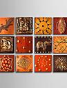 Pictat manual Abstract Mai Mult De Cinci Panouri Canava Hang-pictate pictură în ulei For Pagina de decorare