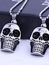 Personalizat de bijuterii cadou craniu forme din oțel inoxidabil gravate colier pandantiv cu lanț 60cm