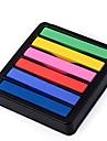 Icke-toxiska Temporary Salon Kit Hot DIY Glada Hår Krita 6 Färg Dye-pastell SV000202