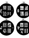 1PCS Nail Art Stamp Stamping Avbildar mallen Plate M Series No.1 (blandade färger)