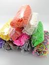 bandes de caoutchouc silicone Bandz de twistz bricolage bracelets arc-en-couleur style de metier pour les enfants avec 600pcs bandes et 24 s-clips