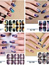 12PCS Full cover Starry Sky Nail Art Stickers (NO.1, Assorted Color)