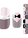 28 pcs 3D Nail Stickers Tecknat / Mode Vackert Dagligen Nail Art Design