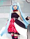 Esinlenen Vocaloid Hatsune Miku Video oyun Cosplay Kostümleri Cosplay Takımları Elbiseler Elbise Bilezik Kolye Saç Bandı