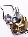 Mask Herr Dam Halloween Karnival Festival / högtid Halloweenkostymer Silver Brun