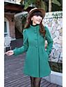 Femei elegant Coat lână la un singur rând
