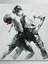 HANDMÅLAD Människor Fyrkantig Duk Hang målad oljemålning Hem-dekoration En panel