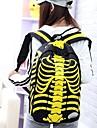 unisex mode duk stora skelett elev ryggsäck (blandade färger)