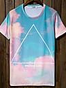 Rotunde Casual maneca scurta de culoare de imprimare T-Shirts pentru bărbați