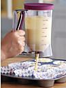 distributeur de pate a gateau avec etiquette de mesure, moule a cake 4 tasses, outil de cuisson