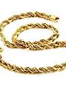 Bărbați Lănțișoare Placat Auriu 18K de aur Bijuterii Design Unic La modă Auriu Bijuterii Nuntă Petrecere Zilnic Casual Cadouri de Crăciun
