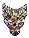Pentru femei Coliere Coliere cu Pieptar Bijuterii Reșină Aliaj La modă Plin de Culoare Festival/Sărbătoare Auriu Bijuterii Pentru