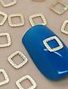 200pcs creux conception de dentelle carree en metal dore decoration art tranche de l\'ongle