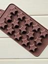 15 gogoși gaura formă pentagramă matrite tort de gheață jeleu de ciocolată