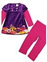 Set Îmbrăcăminte Imprimeu Bumbac Spandex Iarnă Primăvară Toamnă Mânecă Lungă Mov