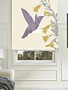 stil de pictură simplu colibri albastru umbră cu role