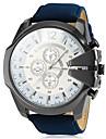 V6 Heren Kwarts Polshorloge Militair horloge Vrijetijdshorloge PU Band Amulet Zwart Bruin Groen Marineblauw
