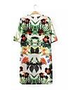 print floral dress-inspirat de epocă