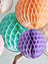 16 inch flori de hârtie țesut fagure de miere cu bile (mai multe culori)
