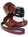 pajiatu® PU aparat de fotografiat ulei de piele din piele carcasă de protecție pentru lentile Samsung nx300 18-55mm sau prim lentile