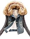 mânecă lungă de moda gros denim coat_30