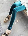 Women's Fashion Velvet Solid Color Pattern Leggings
