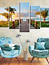 Întins Canvas Art coastă Vizualizări Set Decor din 5