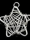 Fashionable Women'sStar-Shaped Wrapped Wire Silvering Pendants (1Pc)