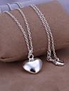 Vilin kvinnors silver hjärta hänge