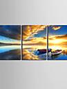 Imprimeu pânză întins Set Canava Peisaj Trei Panouri Orizontal Imprimeu Decor de perete Pagina de decorare
