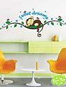 zooyoo® maimuțe drăguț amovibil colorate dormi pe autocolante de perete ramură 3d autocolant de perete home decor pentru copii / cameră de