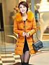 femei dm Coreea hanorac guler de blană teaca lână haină lungă
