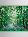 Pictat manual Peisaj Orizontal pânză Hang-pictate pictură în ulei Pagina de decorare Un Panou