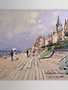 HANDMÅLAD Känd Horisontell Duk Hang målad oljemålning Hem-dekoration En panel