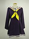 Inspirat de Nu joc nici o viață Shiro Anime Costume Cosplay Costume Cosplay Bloc Culoare Manșon Lung Rochie Șosete Cravată Pentru Feminin