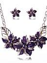 set de femei din Europa de bijuterii din aliaj de flori de moda (inclusiv coliere cercei)