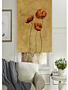 Ulei de stil de pictură de grup floral viu umbră cu role