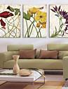 Stretchad Kanvastryck Kanvas set Botanisk Tre paneler Horisontell Tryck väggdekor Hem-dekoration