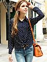 coco Zhang femei rever gât sifon cu maneci lungi bluza